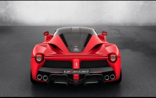 2013 Red Ferrari LaFerrari Studio Rear Top Angle wallpapers and stock photos