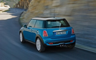 Mini Cooper blue wallpapers and stock photos