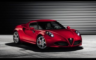 2013 Alfa Romeo 4C Static Front Angle wallpapers and stock photos