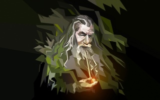 Gandal the Grey Vector Illustration wallpapers and stock photos