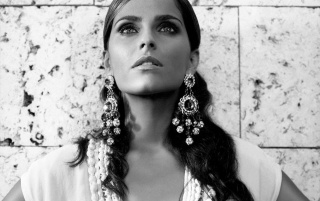 Nelly Furtado Monochrome Close-up wallpapers and stock photos
