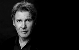Random: Harrison Ford Monochrome Close-up