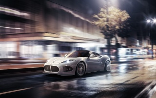 2013 Spyker-B6 Venator Concept Motion Side Angle wallpapers and stock photos