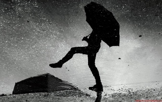Dancing in the Rain wallpapers and stock photos