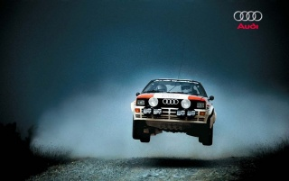 Audi Quattro Rally wallpapers and stock photos