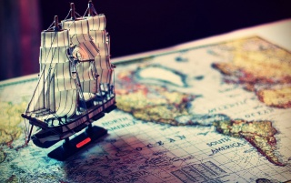 Model Ship and World Map wallpapers and stock photos