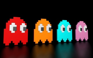 Pac Man Ghosts wallpapers and stock photos