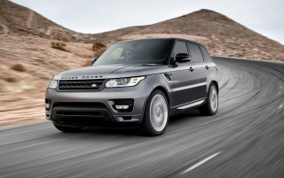 2014 Range Rover Sport Front Angle Speed wallpapers and stock photos