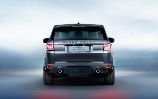 2014 Range Rover Sport Rear Studio wallpapers and stock photos