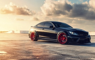 Mercedes Benz C63 Black Series wallpapers and stock photos