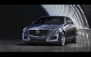 2014 Cadillac CTS Static Front Angle wallpapers and stock photos