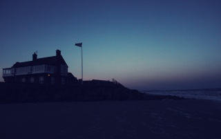 Beach House at Night wallpapers and stock photos