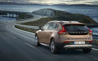 Volvo V40 Rear Angle Speed wallpapers and stock photos