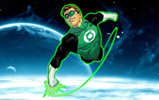 Green Lantern Flying wallpapers and stock photos
