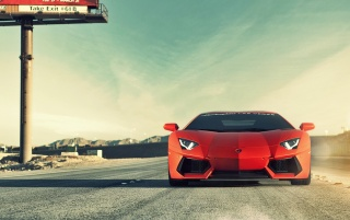 Lamborghini Aventador LP700-4 Front wallpapers and stock photos