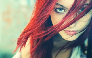 Green Eyes Redhead Close-up wallpapers and stock photos