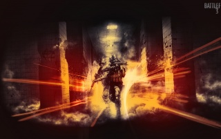 Battlefield 3 Poster wallpapers and stock photos