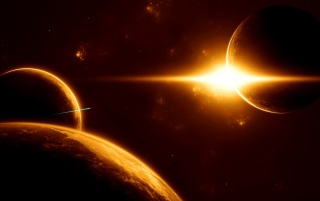 Outer Space Sunrise wallpapers and stock photos