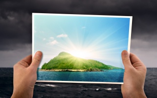 Sunny Island wallpapers and stock photos