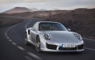 2013 Porsche 911 Turbo Motion Front wallpapers and stock photos