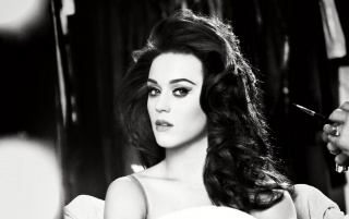 Katy Perry Black and White Close-up wallpapers and stock photos
