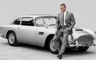 James Bond Grey Suit wallpapers and stock photos