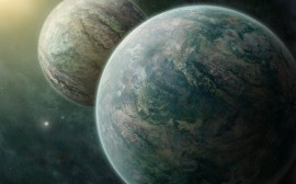 Binary Planets wallpapers and stock photos