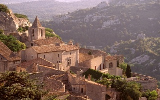 Village of Les Baux wallpapers and stock photos
