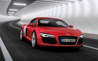 2013 Audi R8 Motion Red Front Angle wallpapers and stock photos