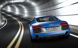 2013 Audi R8 V10 plus Sepang Blue Pearl Effect Rear wallpapers and stock photos