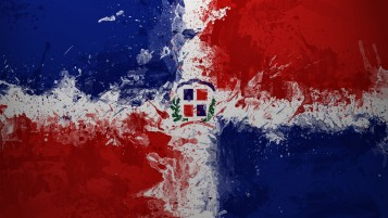 Dominican Republic Flag wallpapers and stock photos