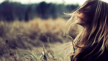 Beautiful Girl with Wind in Her Hair wallpapers and stock photos