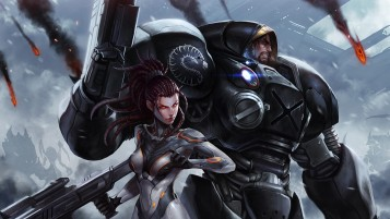 StarCraft II Kunstwerk wallpapers and stock photos