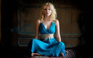 Elisha Cuthbert Blue Dress wallpapers and stock photos