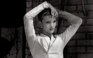 Rosie Huntington-Whiteley Blanco y Negro wallpapers and stock photos