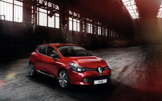 Red Renault Clio 2012 wallpapers and stock photos