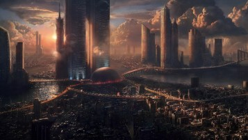 Futuristic City wallpapers and stock photos