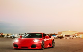 Ferrari F430 Airport wallpapers and stock photos
