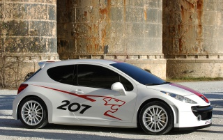 Peugeot 207 side wallpapers and stock photos