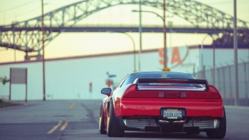 Red Acura NSX Rear wallpapers and stock photos