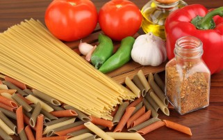 Pasta garlic tomato wallpapers and stock photos