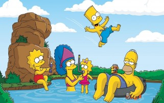 The Simpsons Swimming wallpapers and stock photos