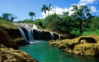 El Nicho Falls wallpapers and stock photos