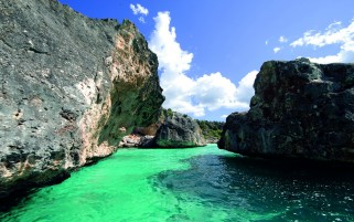 Dominican Carribean Water & Rocks wallpapers and stock photos