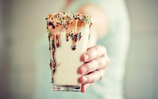 Random: Cold Milkshake with Sprinkles