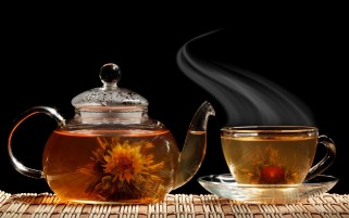 Blooming Flower Tea wallpapers and stock photos