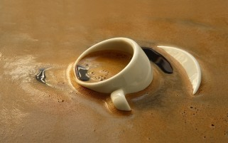 Mojando la taza de café wallpapers and stock photos