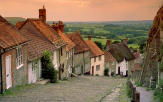 Gold Hill Cottages wallpapers and stock photos