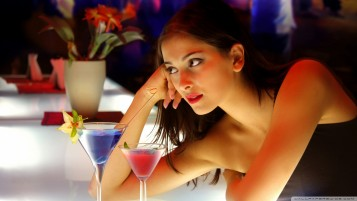 Girl at the Bar wallpapers and stock photos