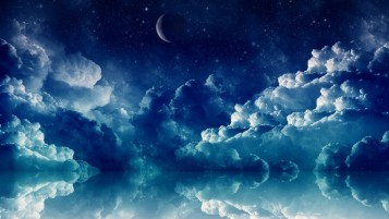 Pretty Blue Night wallpapers and stock photos